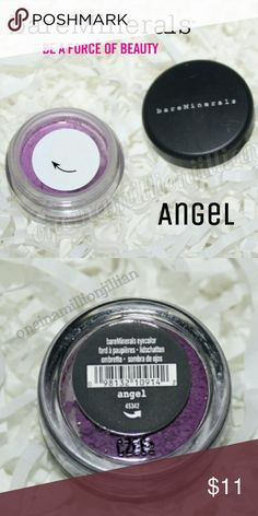 🎀 BareMinerals Eye Color/Loose Shadow New/Sealed as Shown  .01oz - Authentic  Color: Angel (vivid orchid w/ pink undertones) Finish: Matte - The most opaque eyeshadow from bareMinerals  Surrender to the incredible creamy feeling of crushed bareMinerals Eyecolor.  Velvety-smooth & unbelievably blendable, this vibrant stay-true shade won't smudge, run or fade.  Check out my page for more great items & discounts. #oneinamillionjillian Bare Escentuals Makeup Eyeshadow