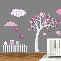 1000 id es sur le th me sticker motif arbre pour chambre de b b sur pinterest arbres de for Decoration chambre bebe hibou
