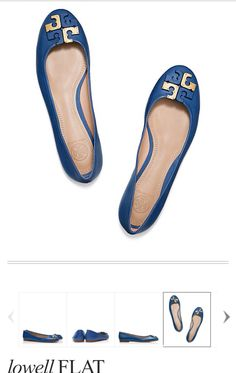 Tory burch lowell flat in greek blue. I'm waiting for it to be on sale.