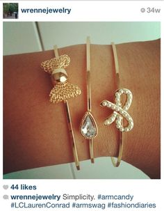 lc lauren conrad bracelets  Love the all gold one!