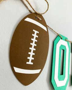 Football party decorations designed by Declan & Smith Party Decorations. #football #superbowl Football First Birthday, Sports Birthday, First Birthday Photos, First Birthday Parties, Football Centerpieces, Baseball Party Decorations, Football Baby Shower, Baseball Banner, Birthday Photo Banner