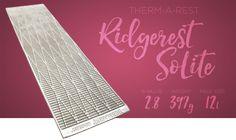 Thermarest Ridgerest SoLite - a great value and super lightweight foam cell sleeping mat.