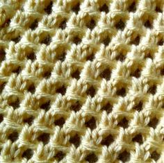 The Irish Mesh stitch provides versatility which makes it great for many types of projects including scarves, blankets and more!