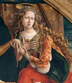 Carlo Crivelli – Cristo morto sorretto da San Giovanni Evangelista, la Vergine e Santa Maria Maddalena, 1493.