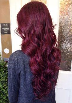 Cherry purple hair beauty tips burgundy hair, mahogany red hair, wine hair. Deep Red Hair Color, Maroon Hair Colors, Color Red, Wine Red Hair Color, Wine Colored Hair, Red Wine, Hair Colours, Vibrant Red Hair, Dyed Hair
