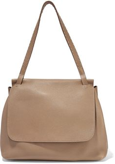 The Row - Sidekick Textured-leather Shoulder Bag - Sand