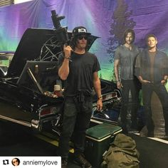 """13 Likes, 2 Comments - Rachel McDonnell (@hippieanarchistrae) on Instagram: """"So this happened today. ❤ @cw_supernatural can we please get @bigbaldhead on season 13? Imagine…"""""""