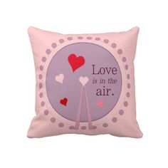 Love Is In The Air American MoJo Pillows