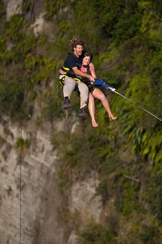 new zealand Nude canyon swing