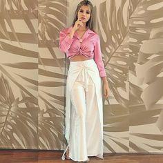 Calça de seda Tailandesa