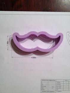 Cookie Cutter mustache moustache cookiecutter cookies custom shape
