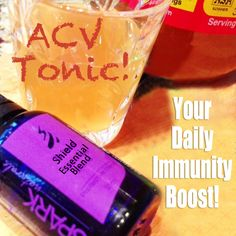Your Daily Immunity Boost! The ACV Tonic!