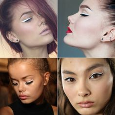 Tendências de maquiagem para você se inspirar, como essa do lápis branco.