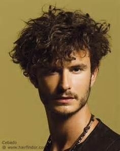 men's hairstyle for very curly hair
