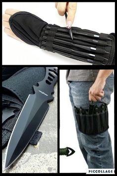 Levi) These are my throwing Knives and spikes. Buck Knives, Cool Knives, Knives And Swords, Tactical Pocket Knife, Tactical Knives, Tactical Gear, Urban Survival, Survival Knife, Armas Ninja