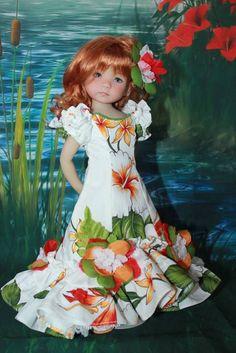 """13"""" Dianna Effner's Little Darling's """"HAWAIIAN BREEZE"""" Gown Ensemble. #DiannaEffner"""