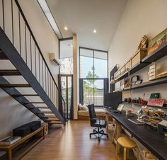 """A Tour Of The Amazing """"Lobster House"""" By Puchong Satirapipatkul Interior Design Photos, Office Interior Design, Office Interiors, Industrial Office Design, Modern Office Design, Modern Loft, Office Designs, Industrial Loft, Modern Homes"""