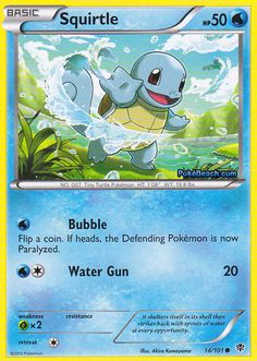 3 x Squirtle O Pokemon, Pokemon Cards, Tiny Turtle, Akira, Card Games, Bubbles, Geek Stuff, Black And White, Drawings