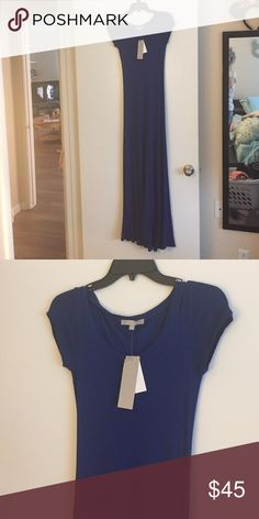 Long blue dress Long blue rayon (95%) spandex (5%) dress. Never been worn joan vass Dresses Maxi