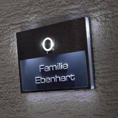 LED Solar Leuchte Hausnummern Schild Aussen Tür 2-Stufen Schalter Wand Lampe Hof