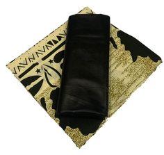 Wax Bogolan Mélangé avec un tissus Noir Black Fabric, African, Fabrics
