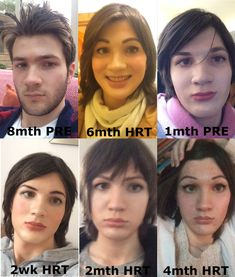 Transgender Transformation, Male To Female Transformation, Transgender Meme, Mtf Hrt, Non Binary People, Mtf Transition, Feminized Boys, Trans Man, Tg Caps
