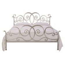 QUEEN SIZE FREEDOM FURNITURE SILVER BED FRAME/ HEAD WITH SLATS - PRISCILLA RANGE