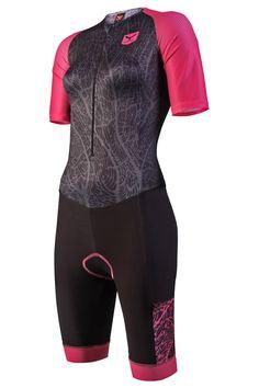 Trisuit de mujer larga distancia para hacer triatlón T60.5-SHOP (CORAL REEF)   Taymory Wetsuit, Bicycle, Coral, Kit, Sports, Swimwear, Closet, Women, Fashion