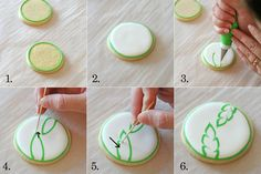 How to create a tropical flower design on cookies