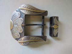 """New Handmade JD MOSS 1 ½"""" Two Piece Belt Buckle"""