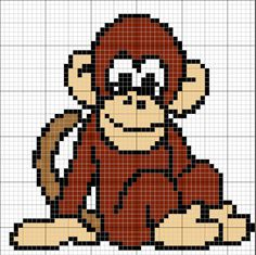 Monkey intarsia sweater pattern