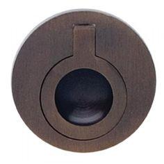"Omnia 9580/50 Drop Ring Flush Pull 2"" - Shaded Bronze"