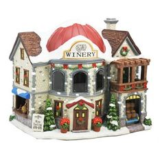 Add a fun and festive touch to your holiday village with this Winery House by St. Department 56 Christmas Village, Lemax Christmas Village, Lemax Village, Christmas Town, Merry Christmas To All, Christmas Scenes, Christmas Villages, Christmas Crafts, Christmas Decorations