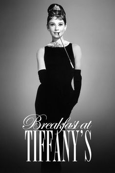 Breakfast at Tiffany's is a classic. Movies just don't get much better than this - and actresses don't come more beautiful than Audrey Hepburn. Breakfast At Tiffany's Poster, Breakfast At Tiffany's Movie, Breakfast With Tiffany, George Peppard, Iconic Movies, Old Movies, Girly Movies, Iconic Movie Posters, Indie Movies