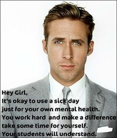 This is appropriate for today with my own papers due and the rush to get their midterm grades in! Hey Teacher! Hey girl!