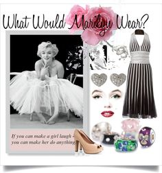 """""""What Would Marilyn Wear?"""" by trollbeadsstudio ❤ liked on Polyvore"""