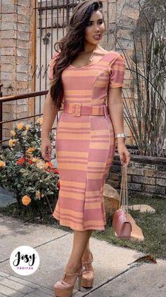 African Print Fashion, African Fashion Dresses, African Dress, Fashion Outfits, Simple Dresses, Modest Dresses, Dresses For Work, Bodycon Outfits, Bodycon Dress