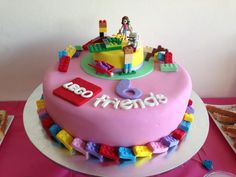 Lego Friends cake