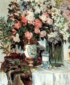 Rose and China by artist Alexander Golovin. hand-painted museum quality oil painting reproduction on canvas. Russian Painting, Russian Art, Oil Painting Reproductions, Rose Bouquet, Painting & Drawing, Modern Art, Art Gallery, Porcelain, Fine Art