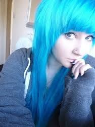 Her in blue hair