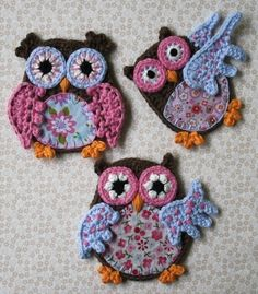 Applique Owl Crochet Pattern por CAROcreated en Etsy