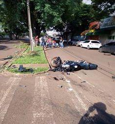 Vídeo completo mostra acidente com moto de cianortense em Campo Mourão