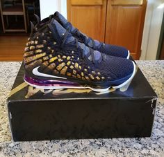 - Brand new never worn - Men's size 12 - Guaranteed authentic - Will ship double boxed Priority Mail with tracking Nike Sneakers, Sneakers Fashion, Nike Shoes, Lebron 17, Nike Lebron, Air Fresh, Jordan Shoes For Women, Casual School Outfits, Kpop Outfits
