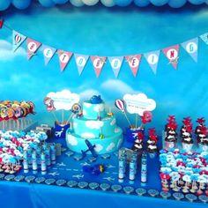 Festa Infantil Personalizada Avião .   * Para personalizar entre em contato com a Papermint.    papermint@papermint.com.br