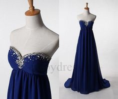 Dark Blue Long Beaded Prom Dresses Evening Gowns Bridesmaid Dresses 2014 Wedding Party Dresses Fashion Party Dress Evening Dresses Looking for S16 dress!