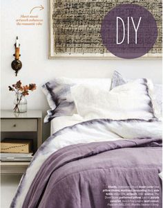 DIY: Ombre Sharpie Bedding (with links to 20 other Sharpie projects) by House and Home Style Editor, Stacey Smithers using sharpies sprayed with rubbing alcohol. Who knew? via poppytalk
