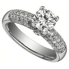 Multi-Row Pave Engagement Ring by http://www.engagediamonds.com/