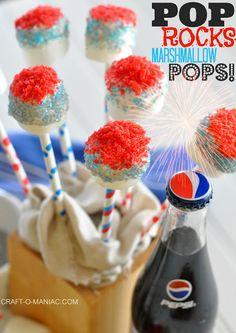 Pop Rocks~ Marshmallow Pops #4thofjuly #4thofjulytreats