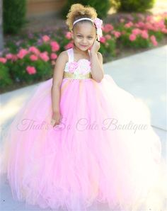 Pink And Gold Flower Girl Tutu Dress Strawberry