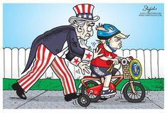 Editorial cartoon on President Donald Trump
